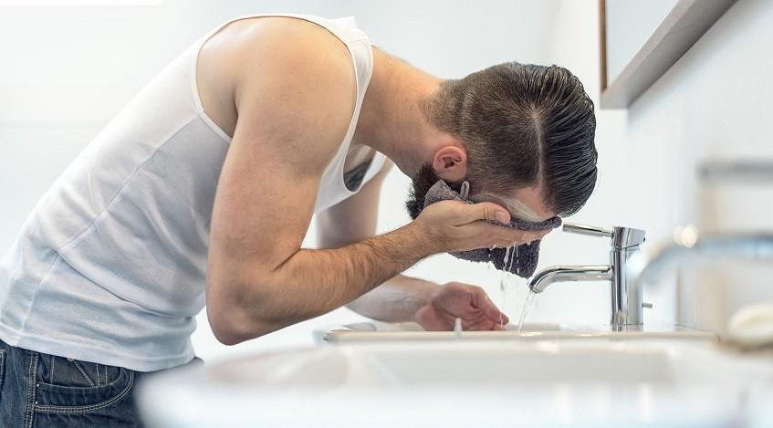 Wash beard