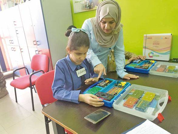 Technology for the blind visually impaired, Student Zahra Abu Daluo Invented a Safe Guide Device for her Daily Life