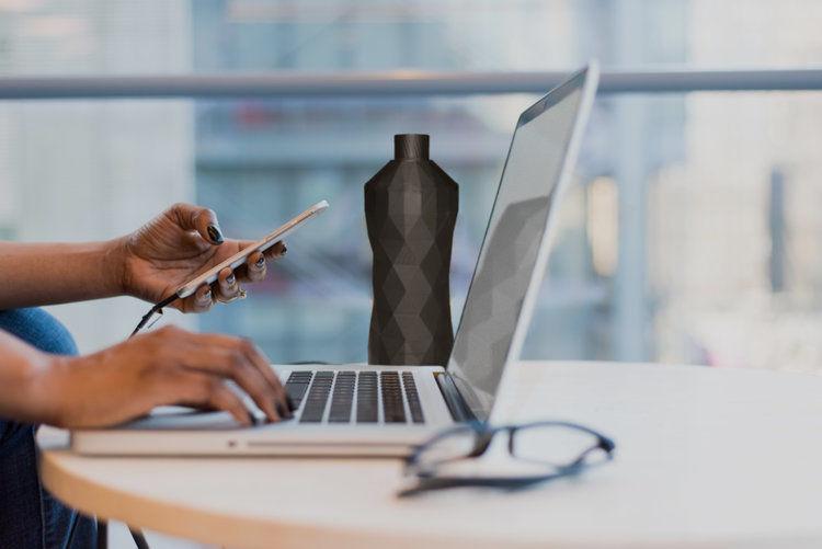 Clean Currents Reusable Water Bottle Desk
