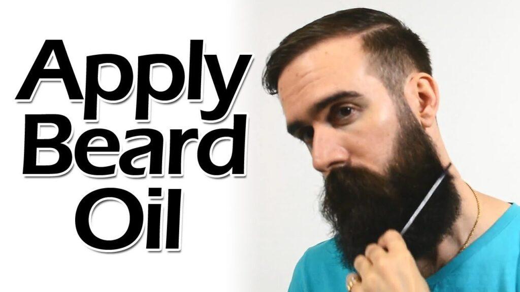 Apply Beard Oil Moisturize